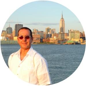New York City skyline, Hoboken, sunset