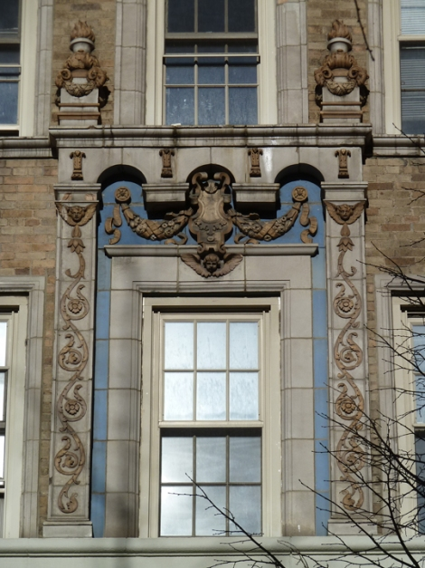 Window surround at 24 Fifth Avenue.