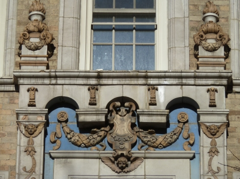 Details of the window surrounds at 24 Fifth Avenue.