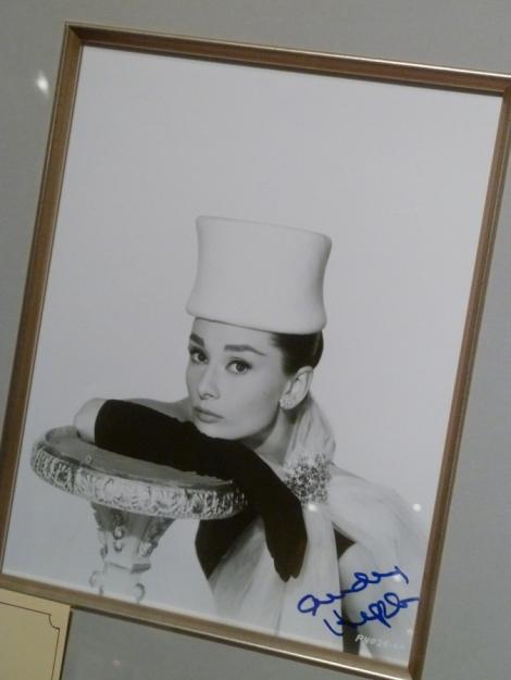 Autographed photo of Audrey Hepburn