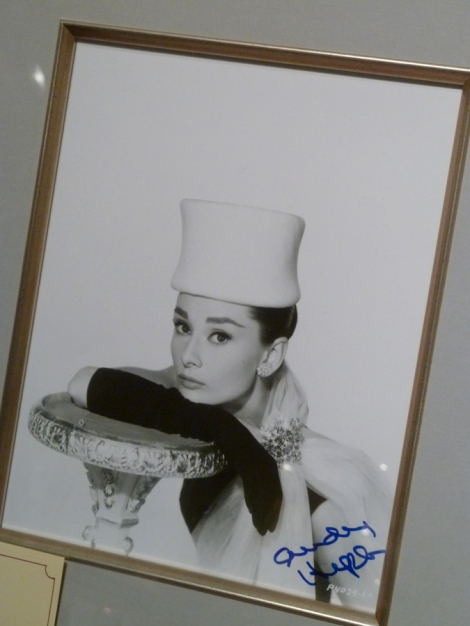 Autographed photo of Audrey Hepburn