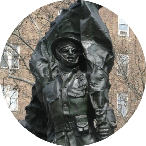 Greenwich Village, Abingdon Square Park, Doughboy, Philip Martiny, Bronze Sculpture