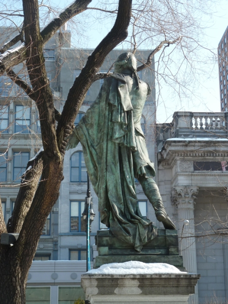 The Marquis de Lafayette Monument in Union Square Park can be seen on the Five Squares and a Circle Tour.