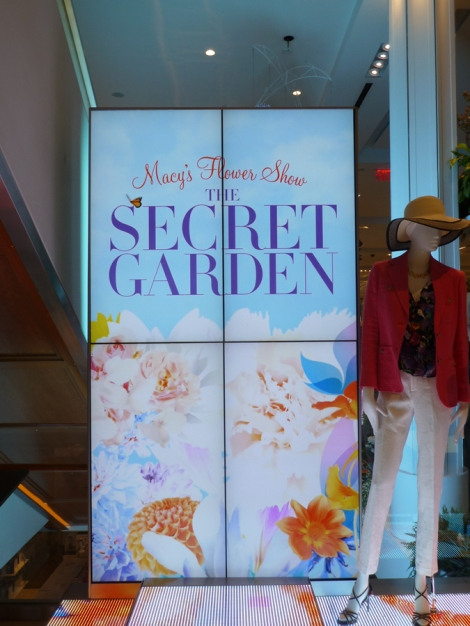 Macy's Flower Show, LED wall, Secret Garden