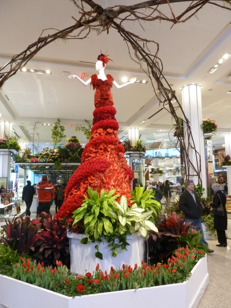 Macy's Flower Show, Red Dress, Secret Garden