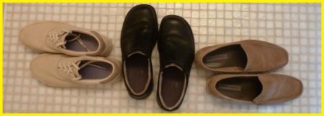 Walking New York white tile shoes
