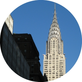Chrysler Building, blue sky, New York