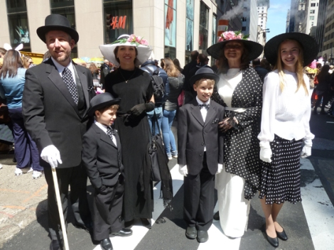 Easter Parade, Easter bonnet, New York, Fifth Avenue, polka dots, hats, family