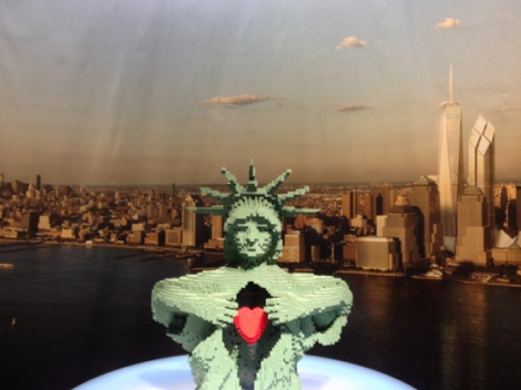 Lego, Nathan Sawaya, Discovery Center, Times Square, Statue of Liberty, New Yok skyline
