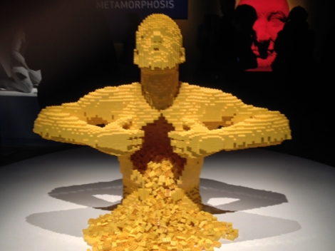 Lego, Nathan Sawaya, Discovery Center, Times Square, yellow, chest