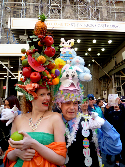 Easter Parade, Easter bonnet, New York, Fifth Avenue, fake fruit