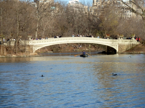Cast iron, bridge, America, Central Park, Bow Bridge, Second Oldest