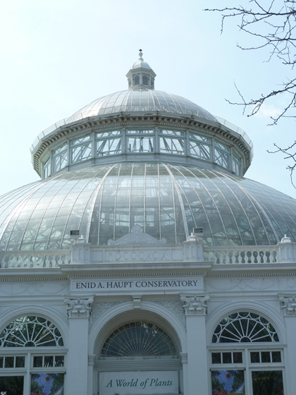 NY Botanical Garden, Enid A. Haupt, Conservatory, glass, dome