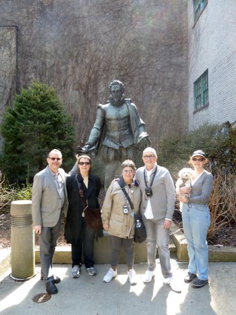 Washington Square, Cervantes, NYU, bronze, statue