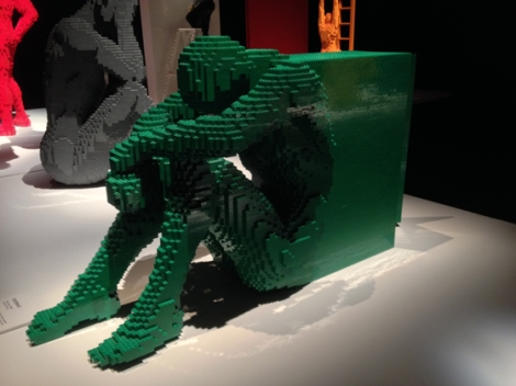 Lego, Nathan Sawaya, Discovery Center, Times Square, seated