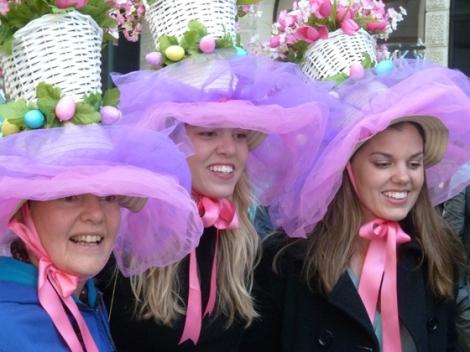 Easter Parade, Easter bonnet, New York, Fifth Avenue, tulle, blue, girls