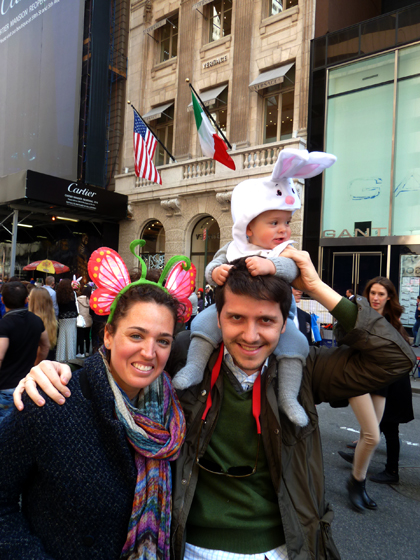 Easter Parade, Easter bonnet, New York, Fifth Avenue, family, parents, bunny ears