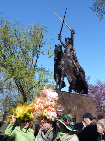 Poland, Polska, King Jagiello Monument, Central Park, Teutonic Knights, Battle of Grunwald, Polish Easter, Party