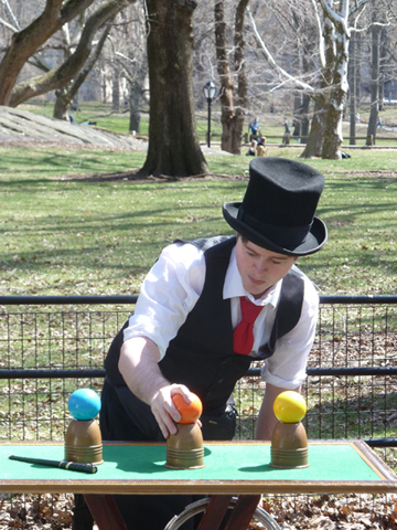 Magician, Central Park, Literary Walk