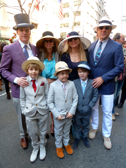 Easter Parade, Easter bonnet, New York, Fifth Avenue, Easter hats, family, boys
