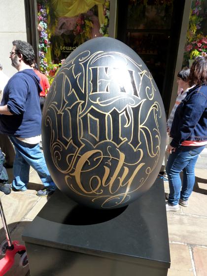 Easter Parade, Easter bonnet, Faberge, Big Egg Hunt, gold lettering, script lettering