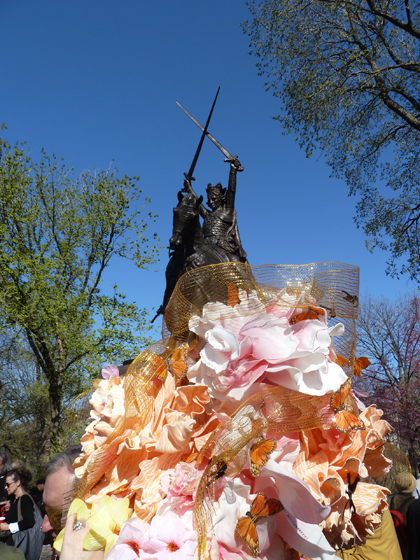 Poland, Polska, Easter bonnet, King Jagiello Monument, Central Park, Teutonic Knights, Battle of Grunwald, Polish Easter, Party