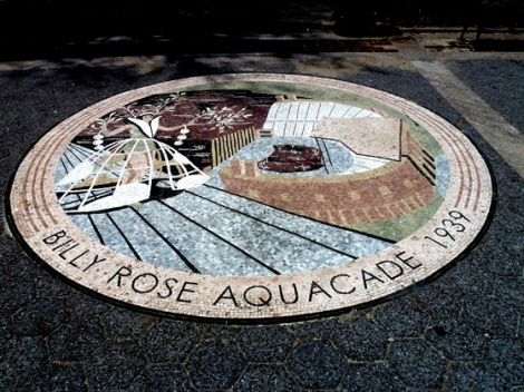 Flushing Meadows Corona Park, World's Fair, 1964, 1939, Billy Rose's Aquacade, mosaic