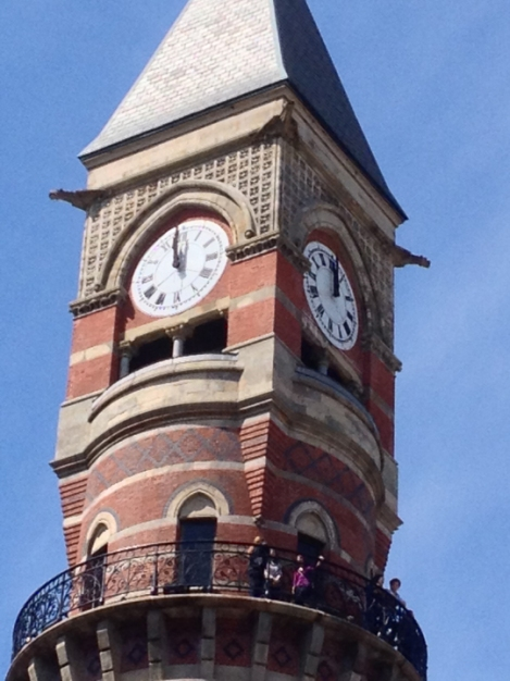Jefferson Market Library, clock, tower, Greenwich Village, lookout platform
