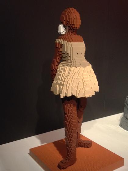 Lego, Nathan Sawaya, Discovery Center, Times Square, Edward Degas