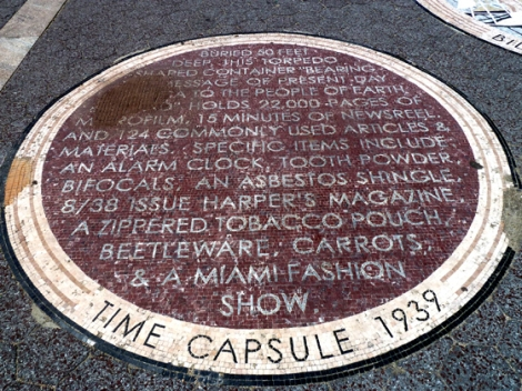 Flushing Meadows Corona Park, World's Fair, 1964, 1939, time capsule, Westinghouse, mosaic