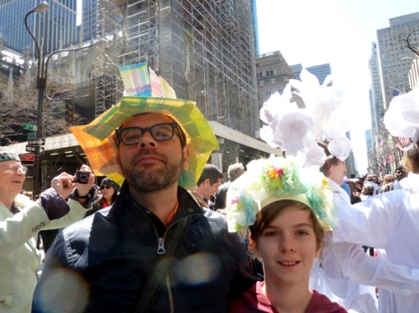Easter Parade, Easter bonnet, New York, Fifth Avenue, father, son