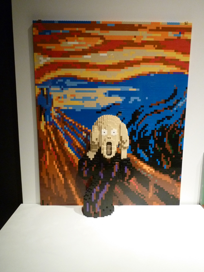 Lego, Nathan Sawaya, Discovery Center, Times Square, Munch, Scream