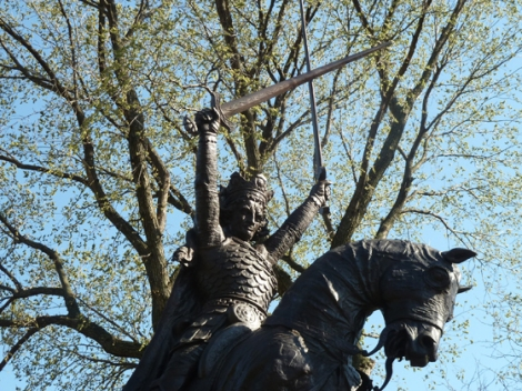 King Jagiello Monument, Central Park, Teutonic Knights, Battle of Grunwald, Polish Easter, Party