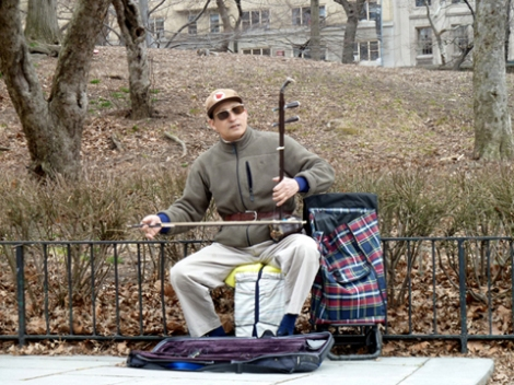Central Park, Conservatory Water, Chinese erhu