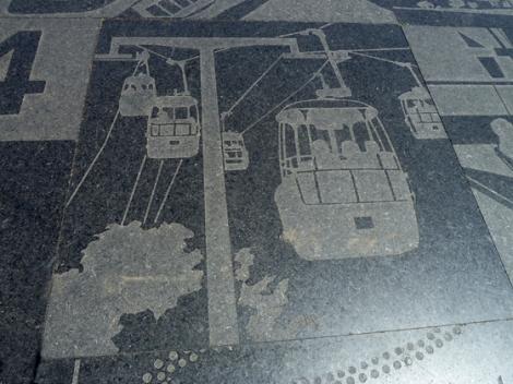 Flushing Meadows Corona Park, World's Fair, 1964, 1939, Matt Mullican, etched black grantie