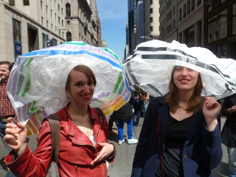 Easter Parade, Easter bonnet, New York, Fifth Avenue, French girls, paper hats