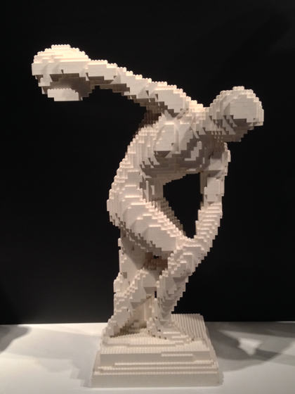 Lego, Nathan Sawaya, Discovery Center, Times Square, discus thrower