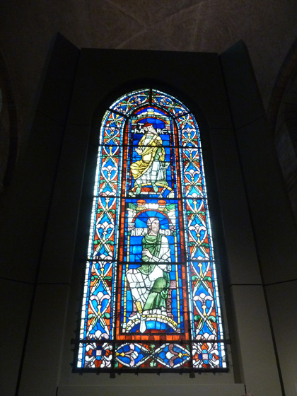 Fort Tryon Park, Hudson River, Manhattan, The Cloisters, Flowering Trees, Metropolitan Museum of Art, Stained Glass Windows, Canterbury Cathedral, Ancestors of Christ Windows