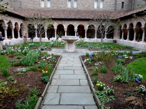 Fort Tryon Park, Hudson River, Manhattan, The Cloisters, Flowering Trees, Metropolitan Museum of Art, Cuxa Cloister