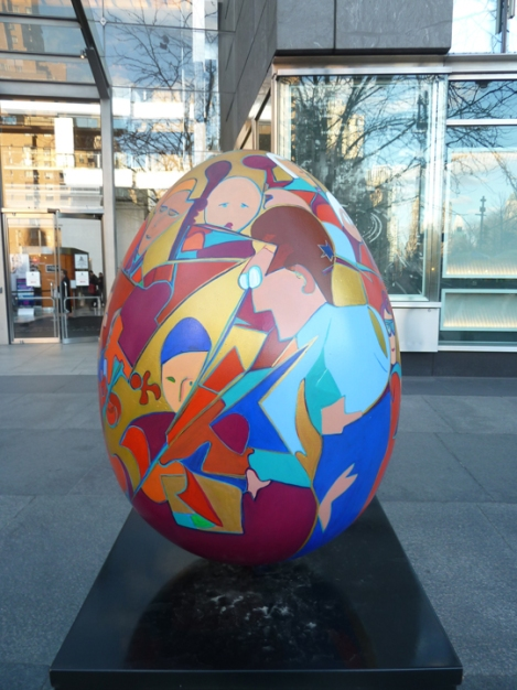 Fabergé egg hunt, colorful, music, Brooklyn Symphony, April, Easter egg, Time Warner, Columbus Circle