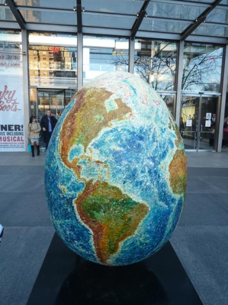 Fabergé egg hunt, globe, earth, April, Easter egg, Time Warner, Columbus Circle