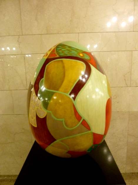 Fabergé egg hunt, orange, Grand Central Terminal, April, Easter egg