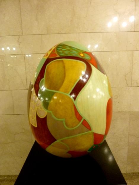 Fabergé egg hunt, orange, Grand Central Terminal, April, Easter egg
