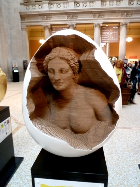 Fabergé egg hunt, Aphrodite, white, April, Easter egg, Metropolitan Museum of Art