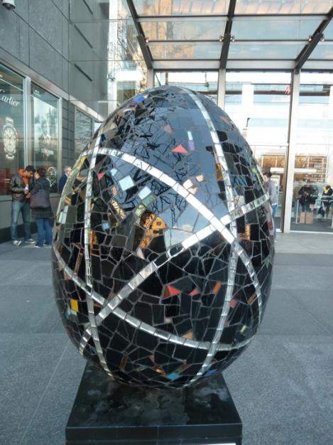 Fabergé egg hunt, black, mosaic, April, Easter egg, Time Warner, Columbus Circle