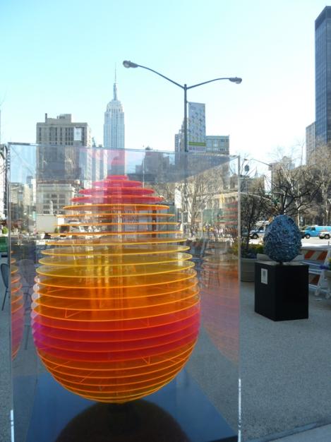 Fabergé egg hunt, Empire State Building, orange, Plexiglas, Flatiron building, April, Easter egg