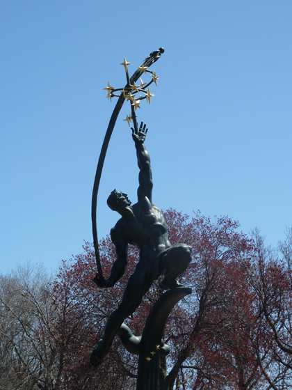 Flushing Meadows Corona Park, World's Fair, 1964, 1939, Donald De Lue, The Rocket Thrower