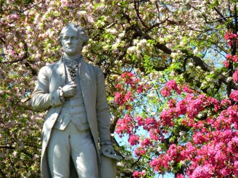 Central Park, Alexander Hamilton, cherry trees, Metropolitan Museum of Art, Spring