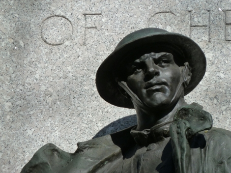 World War I, Chelsea Park, New York City, Doughboy, Monument, Memorial, Philip Martiny, Doughboy, Bronze, Granite, Stele, Rifle