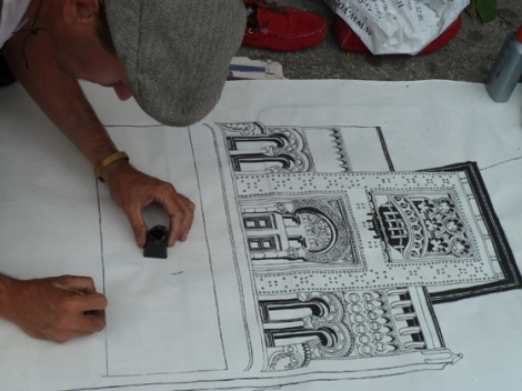 Union Square, Decker Building, Andy Warhol, Five Squares and a Circle Tour, Draughtsman, Drawing, Façade, 33 Union Square West